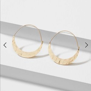 Loft crescent moon hoop earring